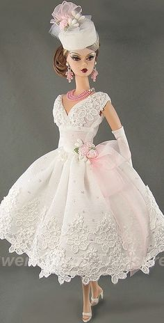 White Wedding Barbie by Gwendolyns Treasures Barbie Bridal, Barbie Wedding Dress, Barbie Dress, Barbie Clothes, Barbie Gowns, Barbie Style, Barbie Vintage, Vintage Dolls, Marie Osmond