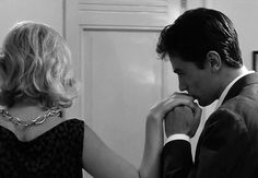 jesuisclaire: Alain Delon and Monica Vitti in L'ECLISSE (1962) directed by Michelangelo Antonioni | via Tumblr su We Heart It.