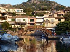 Wooden bridge at Porto Rotondo, Sardinia, Italy. http://flightsandfrustration.com