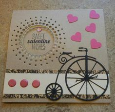 Mini Album Cookbook: Memory Box ~ Valentine Card - This one may help my inspiration on the Valentine's Card Box  vintage bicycle and circle burst