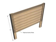 Full size headboard plans from Ana White