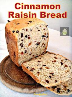 Cinnamon Raisin Bread. A nice easy bread to make, using your bread maker or oven. #raisin #bread #cinnamon