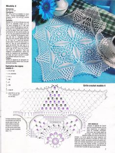 World crochet: Napkin 562