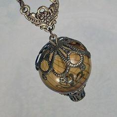 ~ Hot Air Balloon Steampunk Necklace ~