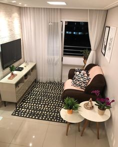 easy living room decor ideas for apartment simple and cozy page 12 Small Living Rooms, Home Living Room, Apartment Living, Living Room Decor, Small Apartments, Small Spaces, Interior Design Living Room, Living Room Designs, Appartement Design