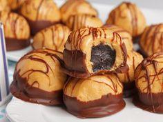 Recipe for peanut oreo chocolates - Oreo peanut butter chocolates - Peanut Recipes, Banana Recipes, Sweet Recipes, Cookie Recipes, Dessert Recipes, Peanut Butter Sandwich, Peanut Butter Cookie Recipe, Peanut Butter Banana, Truffle Recipe