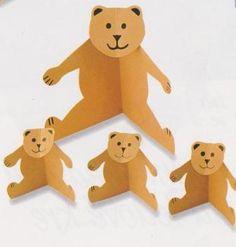 medvědí rodinka Kindergarten, Goldilocks And The Three Bears, Ideas Para, Pikachu, Techno, Blog, Handmade, Crafts, Fictional Characters