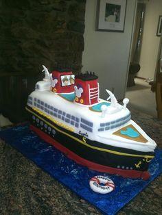 Disney ship cake