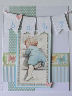 Graphic 45 Little Darlings Vintage Inspired Baby Card