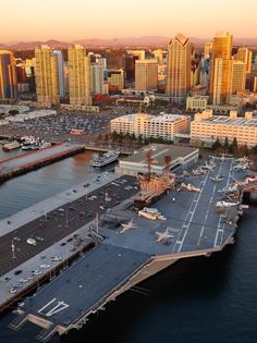 USS Midway Museum. The USS Midway was an aircraft carrier for the US Navy before it became a museum where you can look at the restored helicopters & airplanes and learn the history of the carrier.