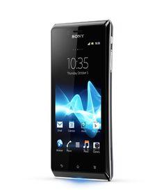 El smartphone Android DLNA Xperia J de Sony es un teléfono Android extraplano que te proporciona entretenimiento en una pantalla grande.