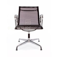 Mesh Ergo Sling Type Low Back Office Chair Eames Style   Black Gliding Base