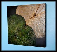 WALL HANGING- HANDMADE NATURE WHITE/ GREEN WOOD WARE