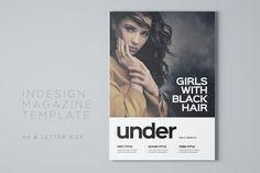Under Magazine Template by Meenom on @creativemarket