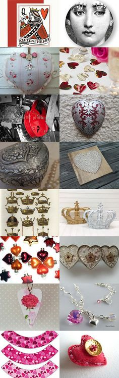 QUEEN OF HEARTS  by Bohemianredjewelry on Etsy--Pinned+with+TreasuryPin.com