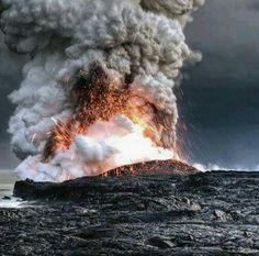 Under water volcano