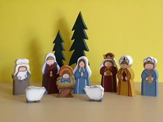 Wooden hand made Nativity Set, from Portland, Oregon!