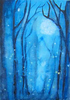 Fog & Fireflies abstract print.