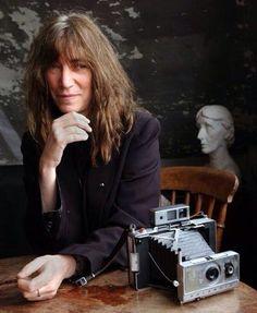 Patti and her beloved polaroid camera.