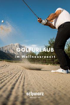 Lust auf die perfekte Golfpartie? Direkt vor der Hoteltür des Alpenresort Schwarz befindet sich der sonnenverwöhnte Golfpart Mieminger Plateau. Ein 18-Loch Championcourse und ein 9-Loch Parkcourse bieten Abwechslung und pures Spielvergnügen. Der perfekte Golfurlaub im exklusiven Wellnessresort in den Bergen in Tirol - im Alpenresort Schwarz. Bergen, Sports, Movies, Movie Posters, Recovery, Hs Sports, Films, Film Poster, Cinema