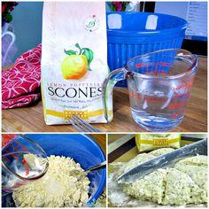 Sticky Fingers Lemon Poppyseed Scones
