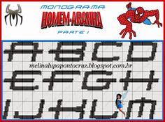 Bom dia meninas   Hoje posto pra voçês estes lindos gráficos no Homem Aranha de amigas blogueiras  Lindas opções para vocçês bordarem muito ...