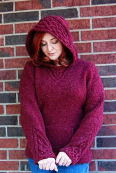 Rogue - love this cabled hoodie... some day I shall knit myself a rogue... but in green...