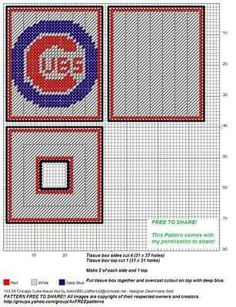 ac1ca028 44 Best Chicago Cubs and Bears plastic canvas images in 2018 ...
