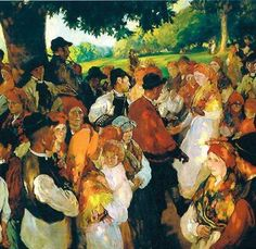 """Galician party"" by Joaquín Sorolla. Spanish Painters, Spanish Artists, Happy Paintings, Beautiful Paintings, Oil Paintings, Large Painting, Painting & Drawing, Monet, Pierre Auguste Renoir"