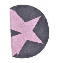 REVERSIBLE STAR PINK. Alfombras lavables de Lorena Canals.