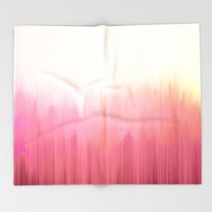 Soft Pink Woods Throw Blanket