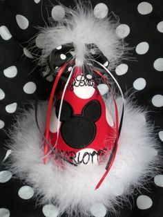 Can't you just see a group of little Disney fans wearing these at the perfect little Disney party?