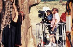 Steven Spielberg: 21 Great Behind-The-Scenes Shots The directing great from Duel to Lincoln Indiana Jones And The Temple Of Doom