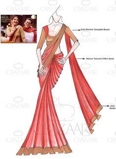 DIY PRDP Inspired Maroon Saree