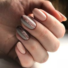 Looking for nail inspiration? Check these 79 pretty nail art trends to start wearing Now. Mismatched nail art design ideas,mismatched Manicures for every season. Nude Nails, Nail Manicure, My Nails, Nail Polish, Manicure Ideas, Fall Nails, Coffin Nails, Acrylic Nails, Nail Art Games