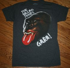 THE ROLLING STONES GRRR GORILLA TONGUE T-Shirt Medium NEW 50th ANNIVERSARY #TheRollingStones #GraphicTee