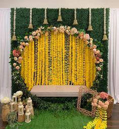 Desi Wedding Decor, Luxury Wedding Decor, Wedding Reception Backdrop, Wedding Stage Decorations, Engagement Decorations, Backdrop Decorations, Wedding Ideas, Naming Ceremony Decoration, Marriage Decoration