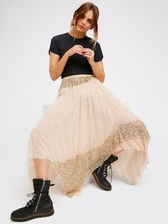Tink Tutu Skirt at Free People Clothing Boutique Rock And Roll, Beautiful Gowns, Special Occasion Dresses, Lace Skirt, Cool Outfits, Fashion Looks, Boho Fashion, Street Style, Style Inspiration