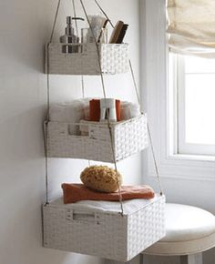 Wicker Bathroom Storage Bins Ideas Solutions Bathrooms Love This