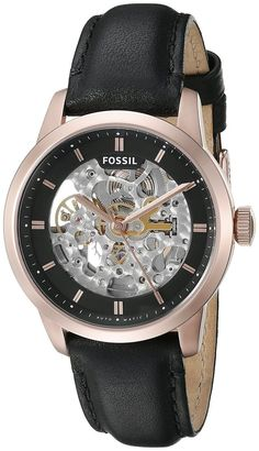 Fossil Mens ME3084 Townsman Automatic Skeleton Dial Black Leather Watch