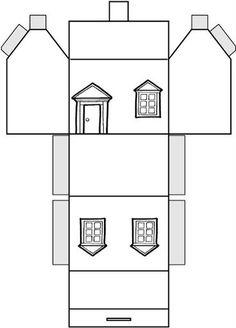 Кукольный домик в тетради для бумажных кукол: распечатать шаблон