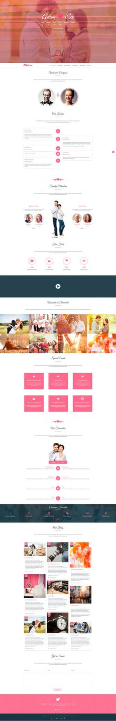 Buy ilove - Responsive Wedding Event WordPress Theme by ThemeImpress on ThemeForest. ilove – Responsive Wedding Event WordPress Theme for wedding, engagement or other events purpose. Web Design, Wedding Website, Wordpress Theme, Wedding Events, Things To Come, Engagement, My Love, Drop, Design Web