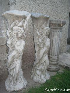 "Pflanzensäule ""Lilly Lady"" Antiksteinguss (winterfest) Garden Sculpture, Lady, Outdoor Decor, Stone Sculpture, Winter Festival, Sculptures, Stones"