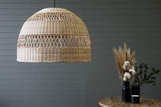 Tahoe Pendant - Large | Naturally Cane Rattan and Wicker Furniture Cane Furniture, Wicker Furniture, Rattan Lamp, Electrical Fittings, Swinging Chair, Light Fittings, Light Shades, Pendant Lighting, Pendants