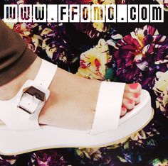 check out our new in sandals - Katie http://ffomo.com/collections/new-in/products/katie-white-pu-flatform-sandals-with-gold-trims