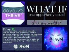 Do you Thrive? Premium nutrition! What is the best home based business - THRIVE!!! Legit home based business. Tired all the time and need more energy, Get more energy naturally - organic vitamins and minerals, healthy lifestyle, increase your energy!  vis