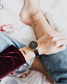 Day & Night Gold Midnight Black Mix Match, Daniel Wellington, Elegant, Night, Stylish, Gold, Leather, How To Wear, Black