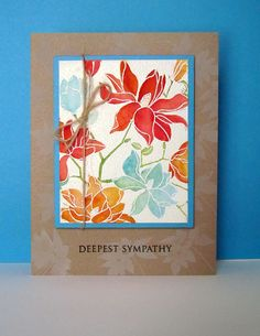 #papercraft #card - Beautiful sympathy card with Hero Arts stamps.