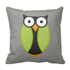 Retro Custom Owl Pillows