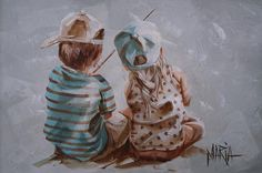 Quality Time - Painting by Maria Oosthuizen Baby Painting, Figure Painting, Time Painting, Painting People, Artwork Pictures, Paintings I Love, Texture Painting, Types Of Art, Vinyl Art